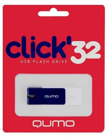 Фото - Флешка USB 32Gb QUMO Click USB2.0 бело-синий QM32GUD-CLK-Sapphire кушетка артмебель грация эко кожа бело черный левый