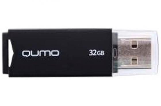 Флешка USB 32Gb QUMO Tropic USB2.0 черный QM32GUD-TRP-Black флешка 16гб qumo ttwist