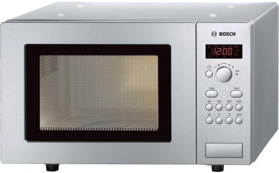 Микроволновая печь Bosch HMT75M451R 800 Вт серебристый микроволновая печь sharp r 2000rw 800 вт белый черный