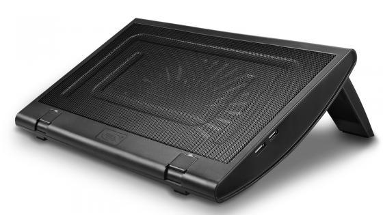 """Подставка для ноутбука 15.4"""" Deepcool WINDWHEEL FS 350x270x40mm 2xUSB 936g 23dB черный цена и фото"""