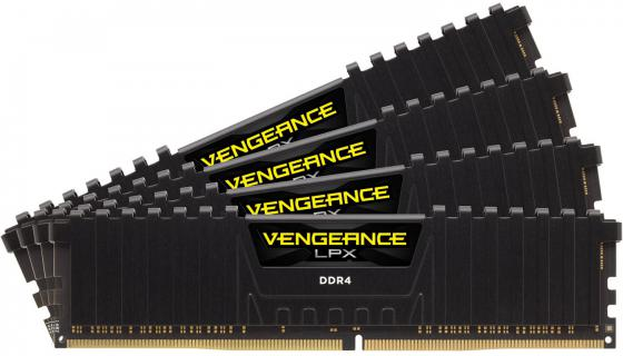 Оперативная память 32Gb (4x8Gb) PC4-21300 2666MHz DDR4 DIMM Corsair CMK32GX4M4A2666C16 unbuffered Retail