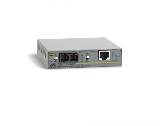 все цены на  Медиаконвертер Allied Telesis AT-MC102XL-yy 100BaseTX to 100BaseFX SC Singlemode  онлайн
