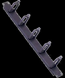 Кабельный органайзер Estap E44ORG2FB 19 1U со щеткой черный кабельный органайзер estap e44org1ub 19 1u 5 колец черный