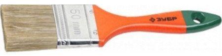 Кисть плоская Зубр ЛАЗУРЬ-МАСТЕР смешанная щетина деревянная ручка 63мм 4-01009-063 кисть плоская стандарт смешанная щетина пластиковая ручка 100 мм