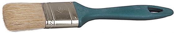 цены Кисть плоская Зубр УНИВЕРСАЛ-МАСТЕР КП-11 натуральная щетина пластмассовая ручка 38мм 4-01011-038