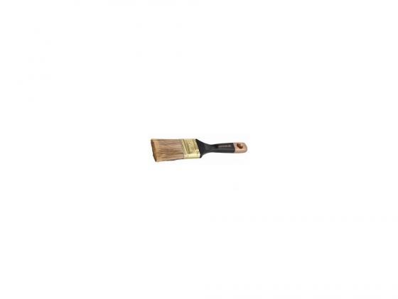 Кисть плоская Stayer AQUA-KANEKARON искусственная щетина деревянная ручка 25мм 0106-025 кисть плоская 75х20 мм искусственная щетина прорезиненная ручка anza профи