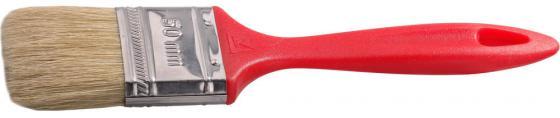 Кисть плоская Stayer UNIVERSAL-EURO натуральная щетина пластмассовая ручка 50мм 0108-50 кисть радиаторная universal master нат щетина 50мм stayer 0110 50 z01