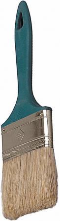 купить Кисть плоская Зубр УНИВЕРСАЛ-МАСТЕР натуральная щетина пластмассовая ручка 63мм 4-01011-063 по цене 40 рублей