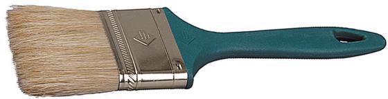 купить Кисть плоская Зубр УНИВЕРСАЛ-МАСТЕР натуральная щетина пластмассовая ручка 75мм 4-01011-075 по цене 60 рублей