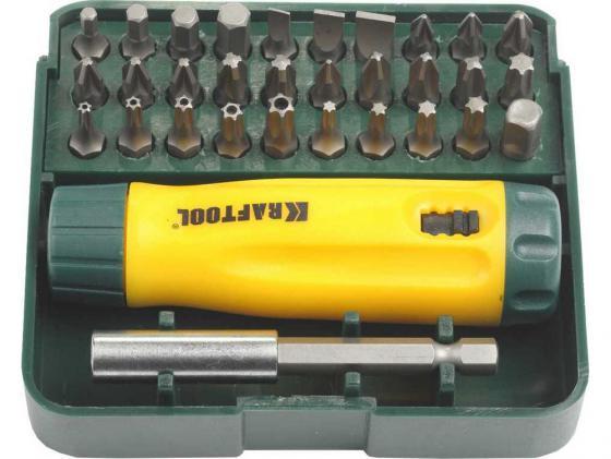 Набор отверточный Kraftool 32шт 26142-H32 отвертка kraftool 26142 h32
