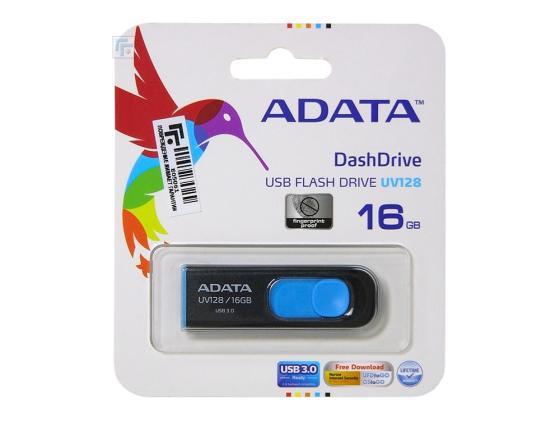 Флешка USB 16Gb A-Data UV128 AUV128-16G-RBE сине-черный