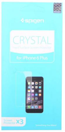 Защитная плёнка прозрачная SGP Screen Protector Crystal для iPhone 6 Plus SGP10873 lcd screen protector with cleaning cloth for iphone 4