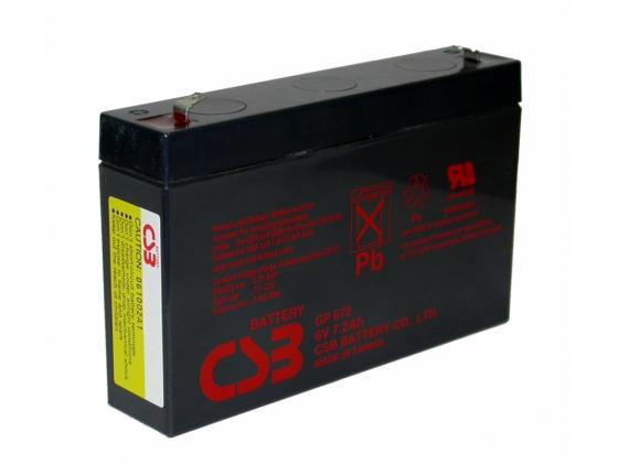 Батарея CSB GP672 6V/7.2AH 6v flashlight bulb