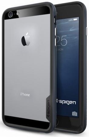 Бампер SGP Neo Hybrid EX Case для iPhone 6S Plus iPhone 6 Plus чёрный SGP11056 бампер spigen neohybrid ex для apple iphone 6 6s