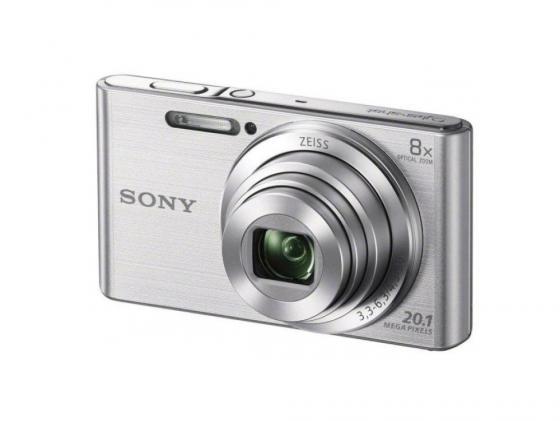 Фотоаппарат Sony DSC-W830S 20.1Mp 8x Zoom серебристый цена