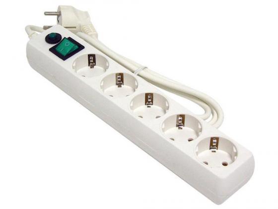 Сетевой фильтр Гарнизон ЕНLW-5 5 розеток 1.4 м белый сетевой фильтр 1 4м 5р белый гарнизон ehlw 5