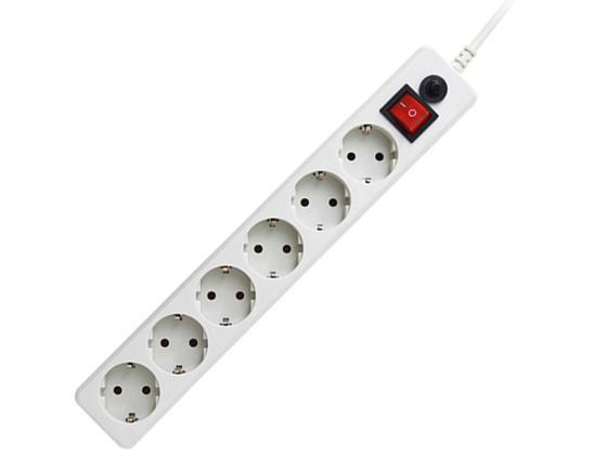 Сетевой фильтр Гарнизон EHW-10 6 розеток 3 м белый сетевой фильтр гарнизон 6 sockets 5m ehw 15