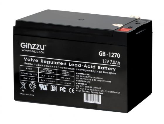 Батарея Ginzzu GB-1270 12V/7Ah аккумулятор patriot 12v 1 5 ah bb gsr ni