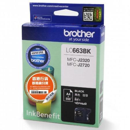 Картридж Brother LC663BK для MFC-J2320 MFC-J2720 черный
