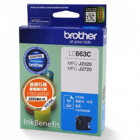 Картридж Brother LC663C для MFC-J2320 MFC-J2720 голубой