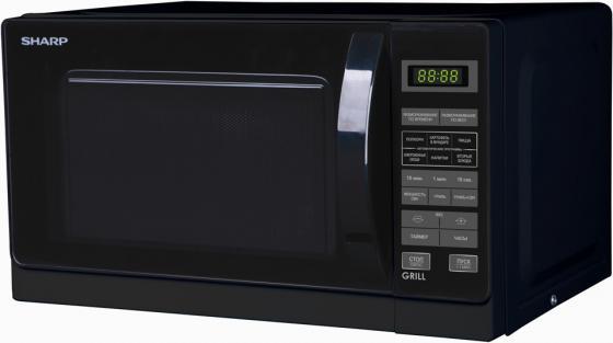 Микроволновая печь Sharp R6672RK 800 Вт чёрный микроволновая печь sharp r 2000rw 800 вт белый черный