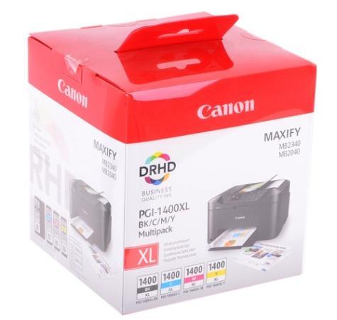 Картридж Canon PGI-1400XL BK/C/M/Y EMB MULTI для MAXIFY МВ2040 МВ2340 чернильный картридж canon pgi 1400xl bk