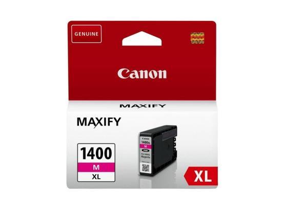 Картридж Canon PGI-1400XL M для MAXIFY МВ2040 МВ2340 пурпурный 900стр картридж canon pgi 1400xl m magenta для maxify мв2040 мв2340 пурпурный