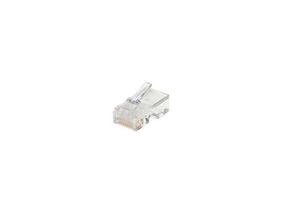 Коннектор RJ-45 8P8C UTP кабеля кат.5 AOpen ANM005 100шт VNA2200 коннекторы rj 45 8p8c для utp кабеля 5 кат aopen aopen anm005 vcom vna2200 100 шт в пакете