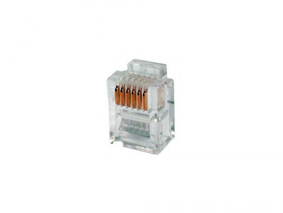 Коннектор RJ-11 6P6C VCOM VTE7717 (100 шт в упаковке) стоимость