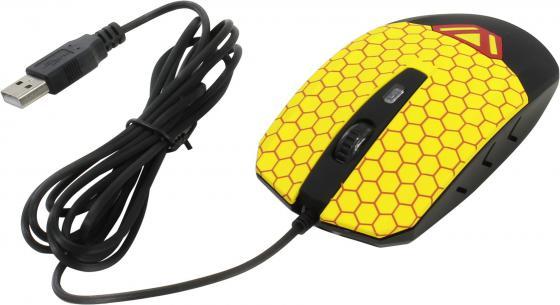 Мышь проводная CBR CM-833 Beeman чёрный жёлтый USB мышь cbr cm 500 grey