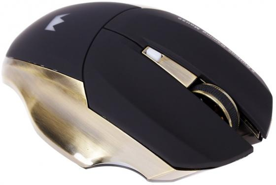 Мышь беспроводная Crown Gaming CMXG-605 чёрный золотистый USB мышь проводная crown cmxg 606 синий чёрный usb