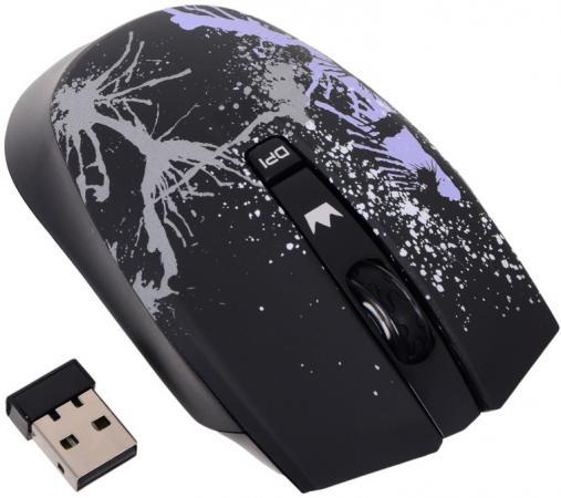 Мышь беспроводная Crown CMM-930W чёрный USB мышь crown cmm 11w black silver
