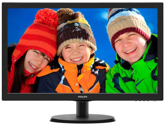 "Монитор 21.5"" Philips 223V5LHSB 01 черный TFT-TN 1920x1080 250 cd/m^2 5 ms HDMI VGA Аудио цена и фото"