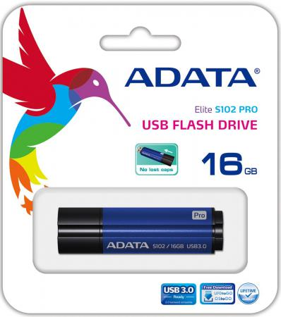Флешка USB 16Gb A-Data S102P AS102P-16G-RBL голубой