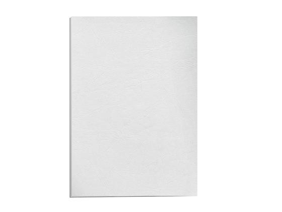 Обложка для переплетов Fellowes Delta A4 тиснение под кожу белый 100шт FS-5370101 обложка для термопереплета fellowes fs 53153