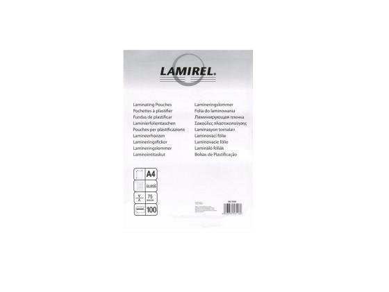 Пленка для ламинирования Fellowes Lamirel CRC-78656 А4 75мкм 100шт цены