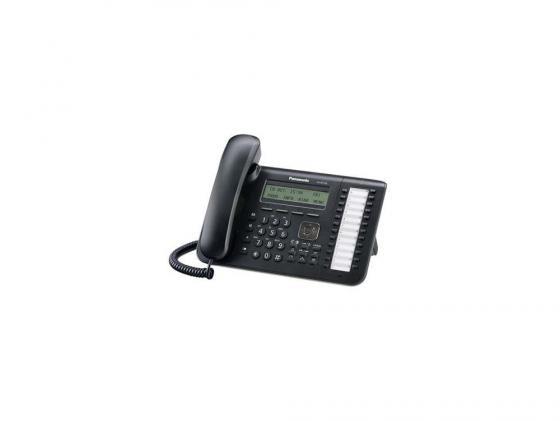 Телефон IP Panasonic KX-NT543RU-B 2xLAN LCD 24 кнопки panasonic kx ts2356ru b