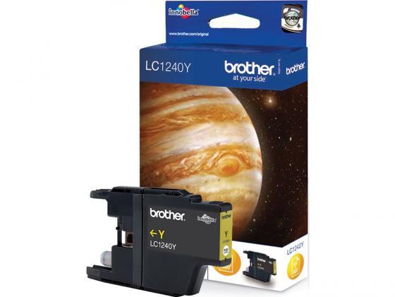 Картридж Brother LC-1240Y для MFC-J6510 6910DW J430W J825DW DCP-J525W желтый 600стр струйный картридж brother lc1240c голубой для mfc j6510 6910dw