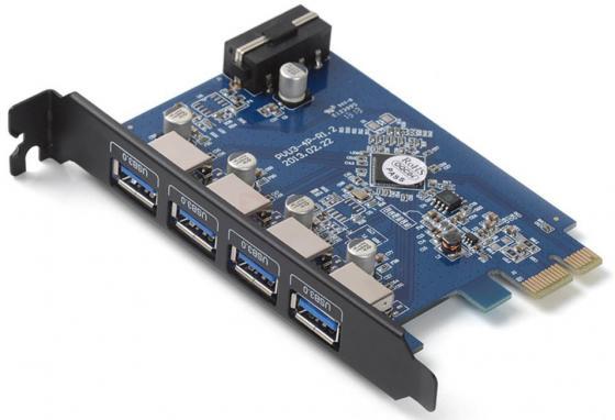 Контроллер PCI-E Orico PVU3-4P USB3.0 4ext контроллер pci e orico pvu3 7u 7xusb 3 0