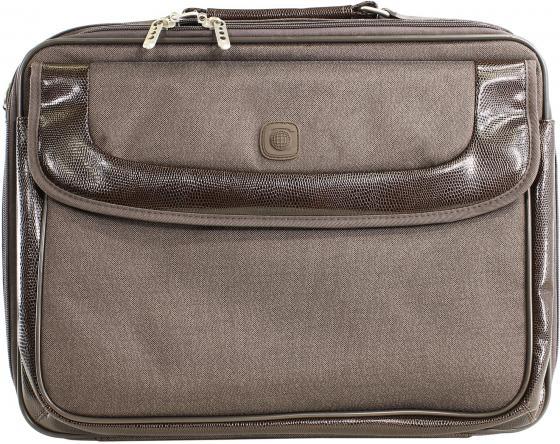 Сумка для ноутбука 15 Continent CC-05 нейлон коричневая сумка для ноутбука 15 continent cc 101 black нейлон