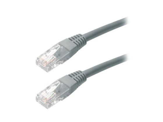 Патч-корд UTP 5e категории 20м серый CCA PVC провод nymбм o 2х1 5 ту серый 20м мастертока 10322