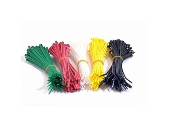 Набор стяжек Hyperline GT-160M 160x2.5мм 500шт 100 белый+100 красный+100 зеленый+100 желтый+100 черный gnc 100