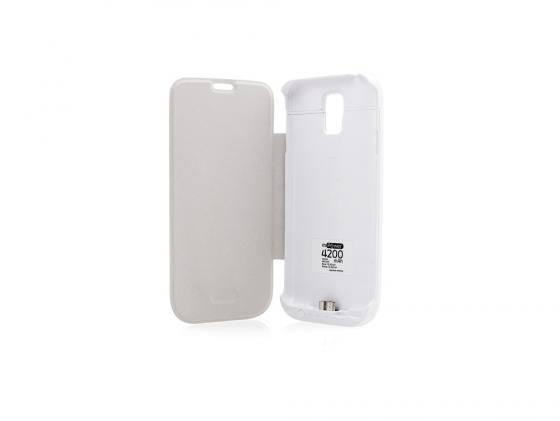 Чехол с аккумулятором Gmini mPower Case MPCS5F White для Galaxy S5 4200mAh Flip cover 3 in 1 cover case for samsung galaxy s5