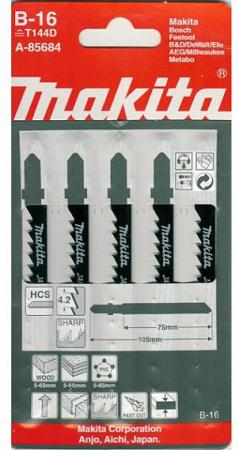 Лобзиковая пилка Makita A-85684 5шт шлифлента makita 100х610мм к100 5шт p 36918
