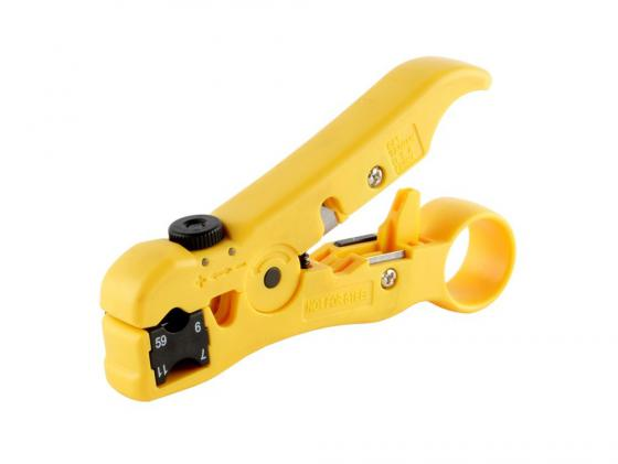 Инструмент для зачистки витой пары Hyperline HT-352A для UTP STP 18AVG 24AVG телефонный плоский универсальный инструмент для заделки витой пары hyperline ht 3640r нож в комплект не входит