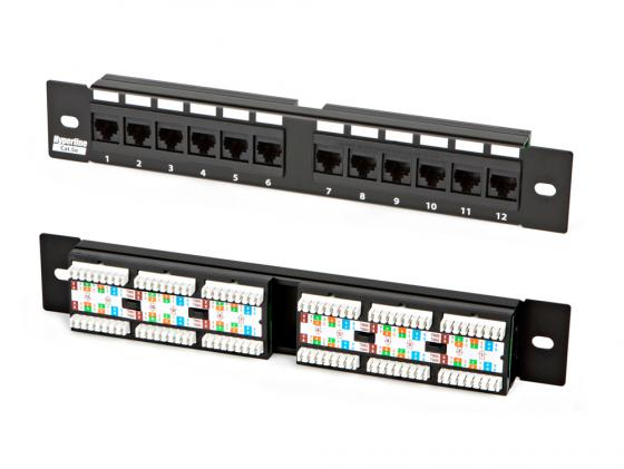 Патч-панель Hyperline PP-10-12-8P8C-C5e-110D 10 1U 12 портов RJ-45 полн. экран категория 5e Dual IDC 1u770mm dual motherboard computer case rack for idc server mail chassis