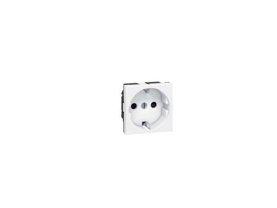 Розетка электрическая Legrand Mosaic 2К+3 2 модуля белый 77213  розетка hdmi legrand mosaic 2 модуля белый 78768