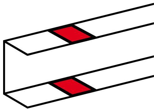 Накладка на стык профиля LEGRAND 010700 самоклеющаяся для односекционных кабель-каналов DLP белый 10692