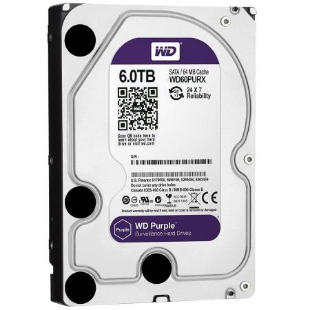 Жесткий диск 3.5 6 Tb 5400rpm 64Mb cache Western Digital SATAIII WD60PURX