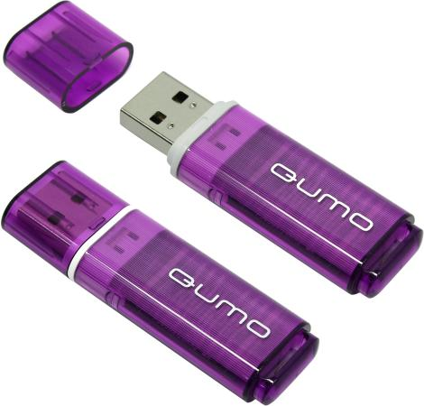Флешка USB 8Gb QUMO Optiva 01 USB2.0 фиолетовый QM8GUD-OP1-violet